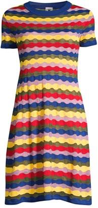 M Missoni Wavy Stripe T-Shirt Dress