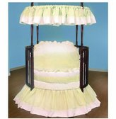 Baby Doll Bedding Regal Pique Round Crib Bedding Set - Ecru