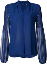 Elie Tahari sheer sleeves shirt