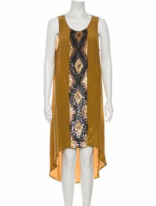 Haute Hippie Silk Midi Length Dress w/ Tags Brown