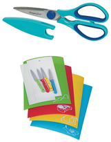 Progressive Kitchen Shears and Chopping Mat with Knives Set (10 PC)