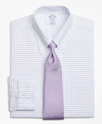 Brooks Brothers BrooksCool Regent Fitted Dress Shirt, Non-Iron Windowpane