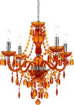 AF Lighting Orange Naples Four-Bulb Chandelier