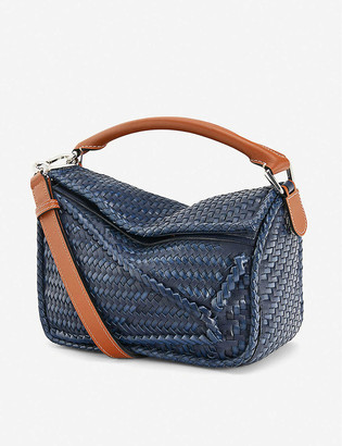 Loewe Puzzle small woven leather bag