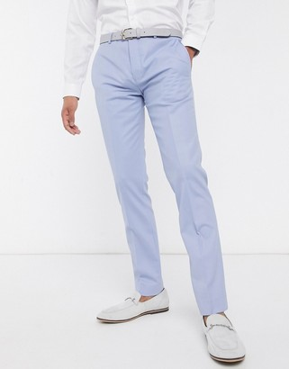 Twisted Tailor suit pants in pastel blue