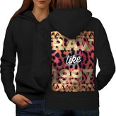 Raw Like 1997 Print Tiger Women M Hoodie Back | Wellcoda