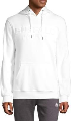 Buffalo David Bitton Long-Sleeve Logo Cotton-Blend Hoodie