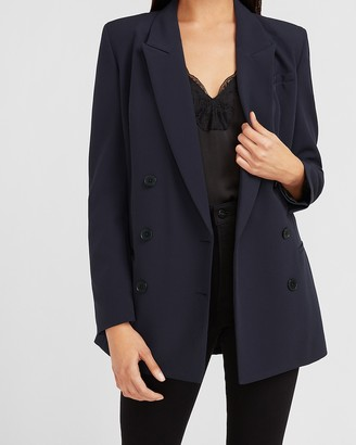 Express Padded Shoulder Double Breasted Blazer