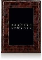 "Barneys New York Studio Glazed Leather 4"" x 6"" Picture Frame"