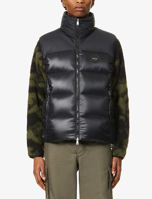 Ralph Lauren Rlx Two-tone padded shell-down gilet