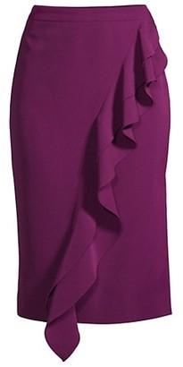 Cascading Ruffled Pencil Skirt