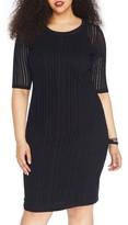 Plus Size Women's Rebel Wilson X Angels Stretch Jacquard Sheath Dress
