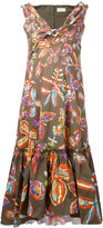 Peter Pilotto floral printed shift dress - women - Cotton/Spandex/Elastane - 10