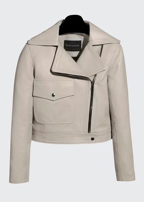 Dan Cassab Juliet Lamb Leather Moto Jacket