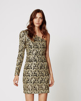 Nicole Miller Gold Paisley Dress