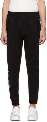 DSQUARED2 Black Ski-Fit Icon Lounge Pants
