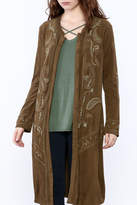 Monoreno Embroidered Duster Coat