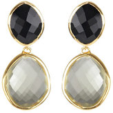 Monica Vinader 18ct gold plated drop earrings