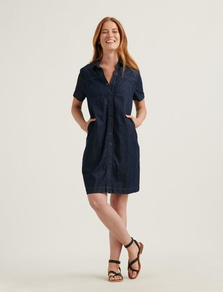 Lucky Brand Button Front Shirt Dress