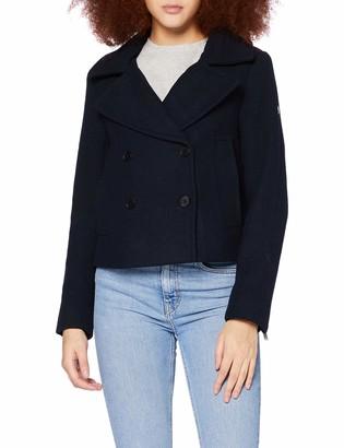 Superdry Women's Wool Crop Peacoat Jacket