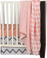 Bacati Ikat Dots/Stripes 4 Piece Crib Bedding Set