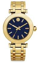 Tory Burch The Classic T Goldtone Stainless Steel Bracelet Watch