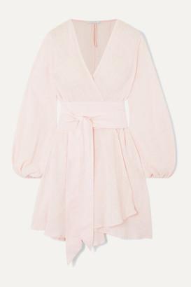 Kalita Gaia Cotton-gauze Wrap Mini Dress