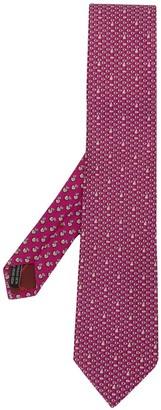 Salvatore Ferragamo Geometric Print Silk Tie