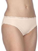 Cotillion Nylon Lace-Trim Bikini Panty
