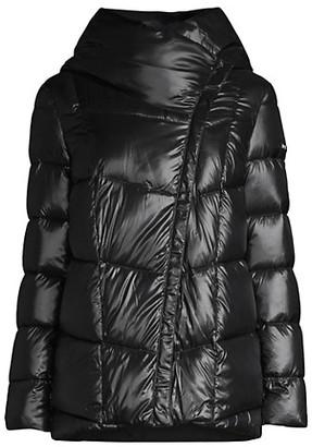 Donna Karan Stand Collar Down Puffer Coat