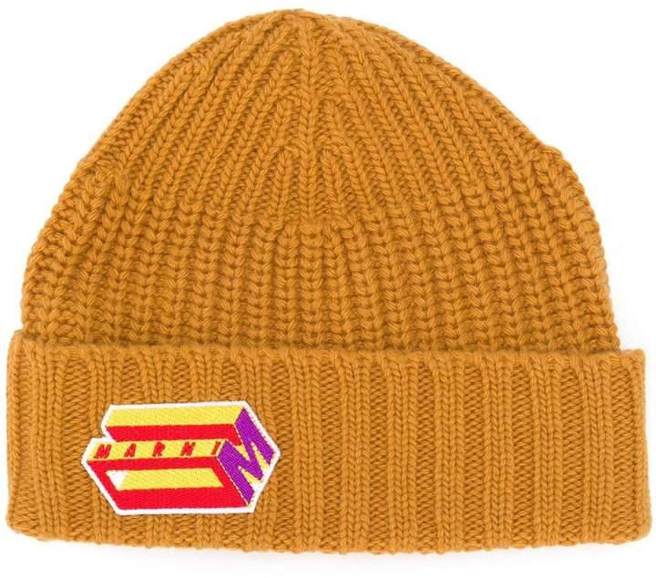 dd5976338 logo embroidered beanie hat