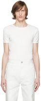 Dries Van Noten White Rib Knit T-Shirt