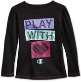 Champion Little Girls' Long-Sleeve Graphic-Print T-Shirt