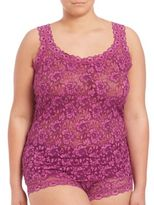 Hanky Panky Plus Size Cross-Dyed Signature Lace Classic Camisole