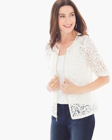 Chico's Lace-Mesh Jacket