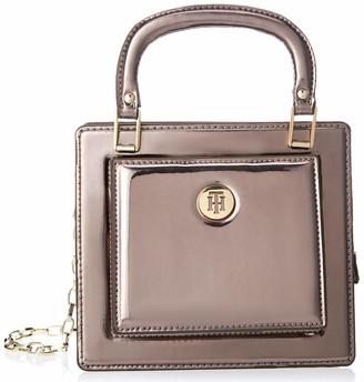 Tommy Hilfiger Womens Th Fashion Crossover Metallic Cross-Body Bag Multicolour (Black Silver)
