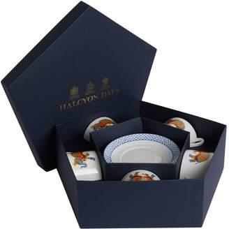 Halcyon Days Indian Elephant Print Teacup and Saucer Set