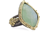 Armenta Old World Carved Kite Doublet Ring w/ Mixed Diamonds, Size 7