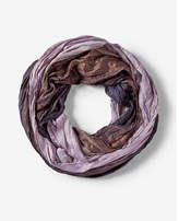 Express pleated ombre loop scarf
