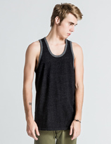 Reigning Champ Black/Heather Grey RC-2069-1 Reversible Tank Top