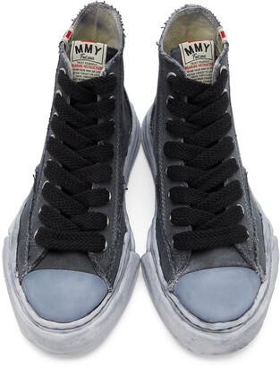 Miharayasuhiro Black Over-Dyed OG Sole Peterson High Sneakers