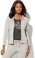 New York & Co. Lurex Zip-Front Hoodie