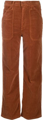 Mother Cropped Corduroy Trousers