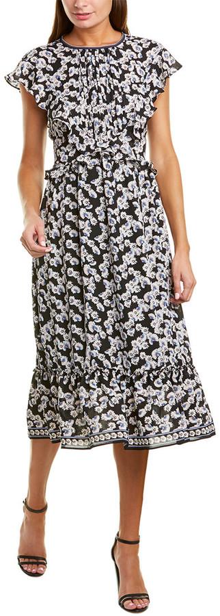 Max Studio Ruffle Midi Dress
