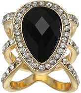GUESS Faceted Pear Shape Stone Ring