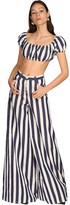 Sunnei STRIPED COTTON BLEND CROP TOP