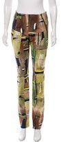 Balenciaga Abstract Print Straight-Leg Pants