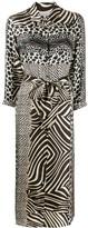 Pierre Louis Mascia Mixed Animal Print Dress