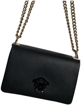 Versace Palazzo Empire Black Leather Handbags