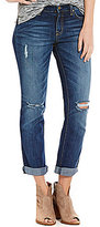 Jessica Simpson Mika Slim Slouch Destructed Boyfriend Jeans